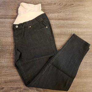 NEW! Maternity Skinny Black Crossover Denim Jeans